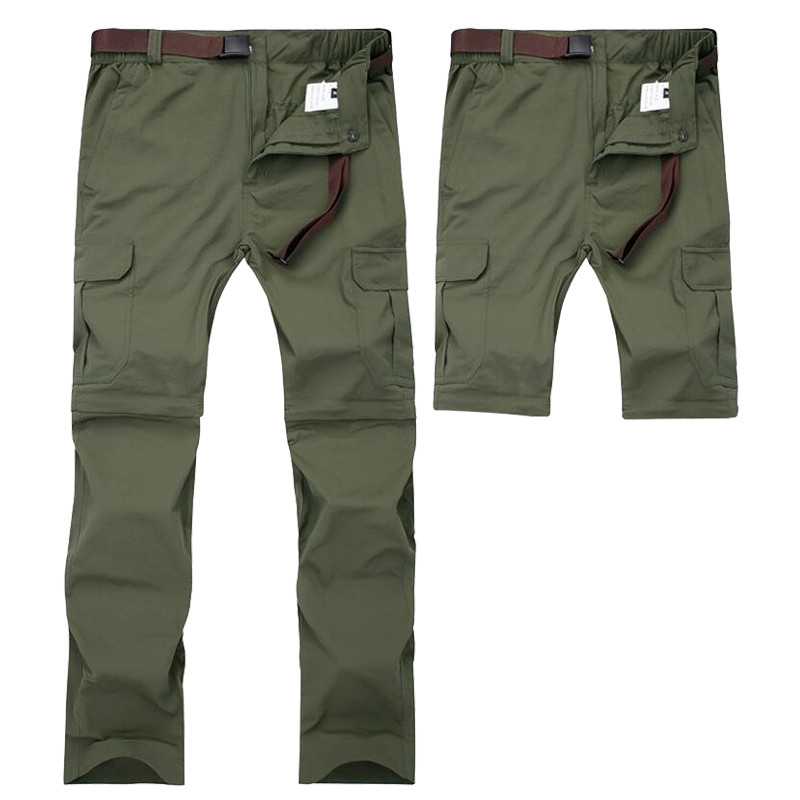 Men Military Detachable Cargo Pants Summer Quick Dry Breathable Male Trousers Joggers Army Pockets Waterproof Tactical Pants 7XL