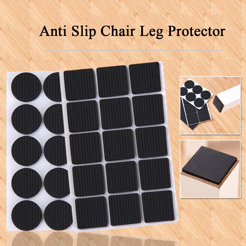 2/4/12/30pcs Soft Thickening Bumper Chair Fittings Self-Adhesive Floor Protector Anti-Slip Mat Anti Rub Furniture Leg Pads
