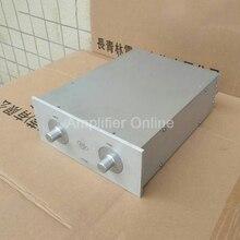 1PCS Aluminum Chassis DIY Preamp Power Amplifier Chassis Aluminum Amplifier Enclosure Amplifier Chassis 240*100*306mm AP53