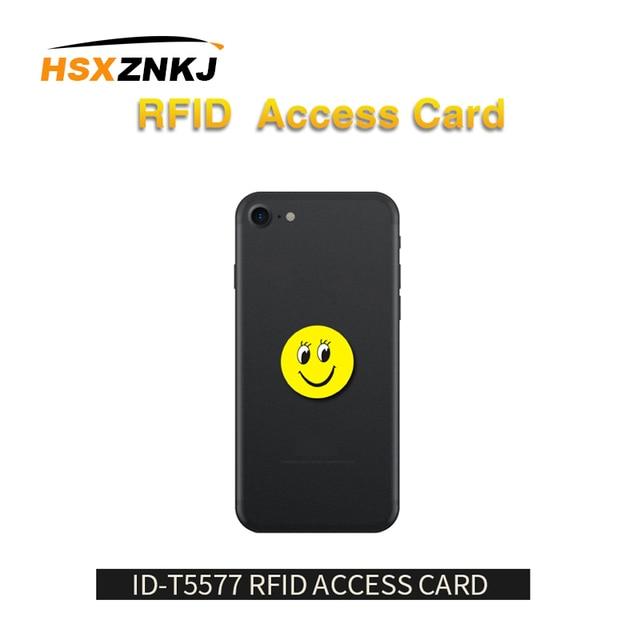 5 개/몫 RFID 125Khz T5577 쓰기 가능 EM4305 안티 금속 간섭 만화 태그 스티커 RFID 복사기에 대 한 근접 식 카드 레이블