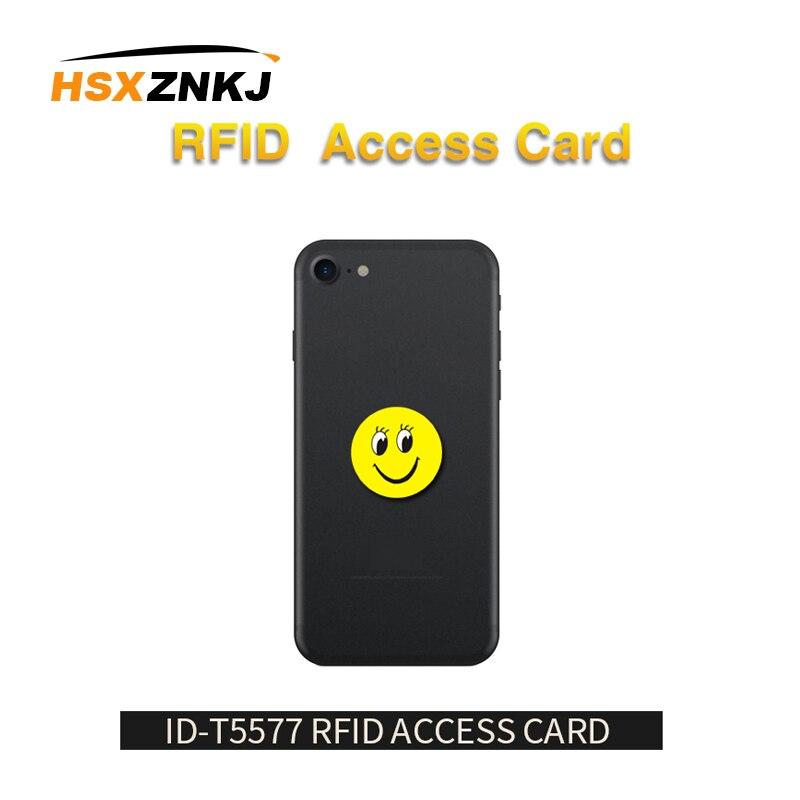 RFID 125Khz Gravável T5577 pçs/lote 5 EM4305 Anti Interferência de Metal Etiquetas Dos Desenhos Animados Adesivos Etiqueta De Cartão De Proximidade RFID Para Copiadora