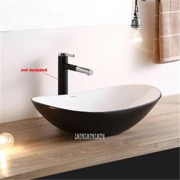 Household Single Hole Creative Black Above Counter Basin Bathroom Retro Basin Chinese Style Ceramic Sink Hand Washing Basin Bowl