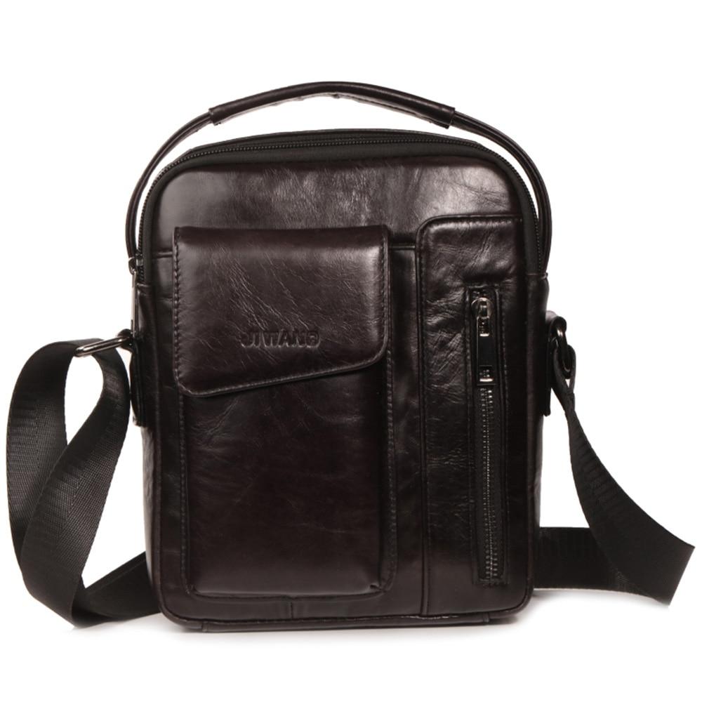 Briefcases Men Shoulder Bag Vintage Crossbody Bags High Quality Male Bag Leather Handbag Men Messenger Bags Briefcases