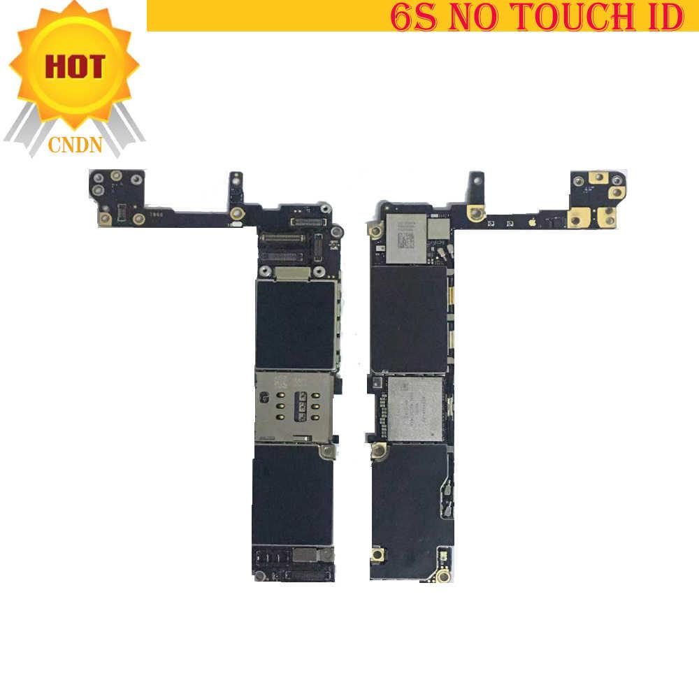 64gb para iphone 6s placa-mãe com touch id ou sem touch id, placa-mãe icloud para iphone 6s, com placa lógica do sistema ios