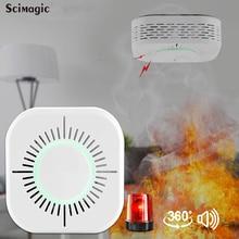 Alarm Fire-Alarm-Sensor Smoke-Detector Security-Protection Sonoff Wireless 433 RF