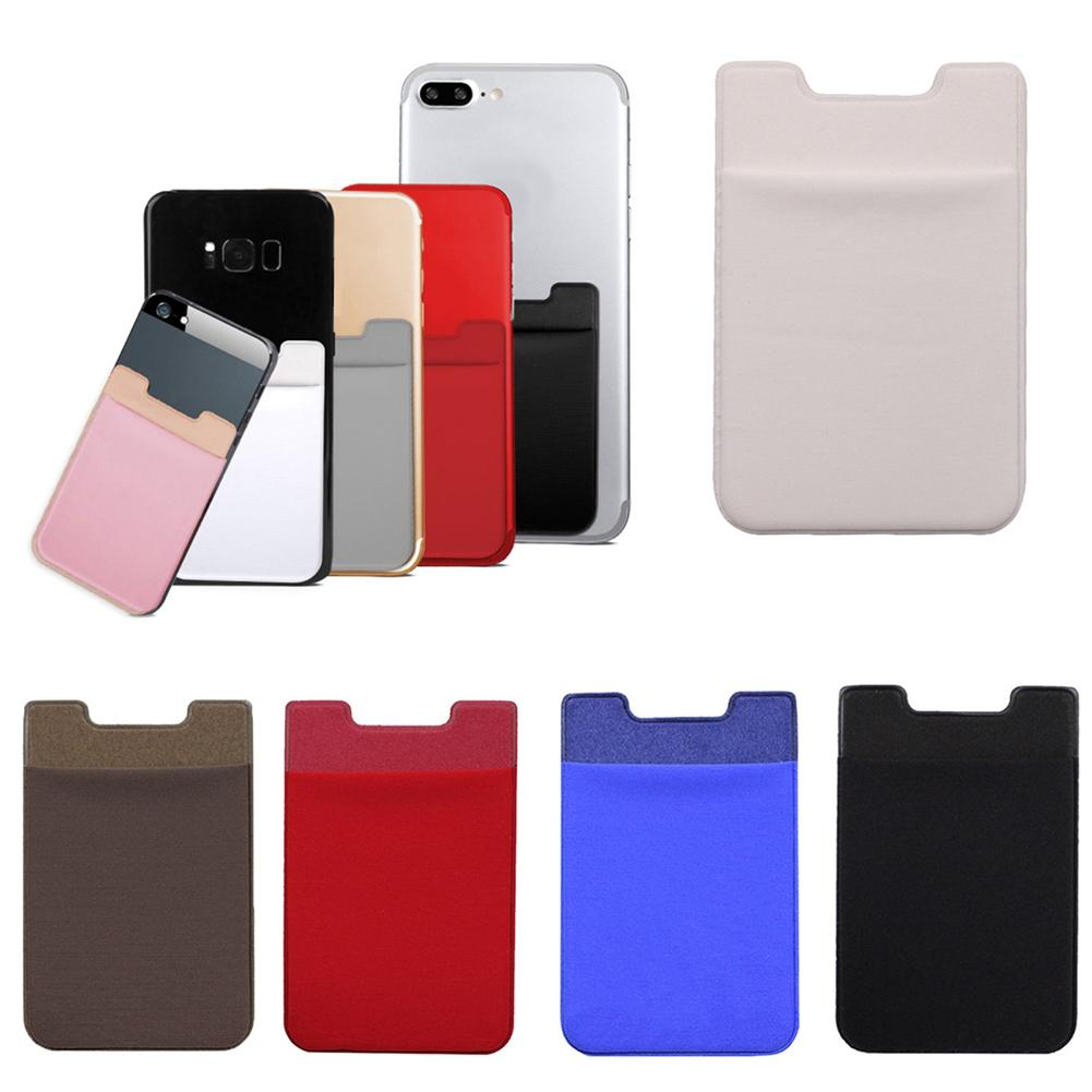 Universal Multifunction Adhesive Cell Phone Mount Cover ID Credit Bank Bus Card Sleeve Sticker For Iphone X 8 7 PLUS I7 6 6S
