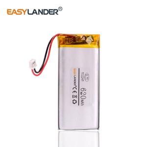 602248 JST 1,25 мм 2 pin 3,7 V 620mAh литий-полимерный LiPo перезаряжаемый литий-ионный аккумулятор для Mp3 MP4 MP5 динамик GPS PSP Vedio игры