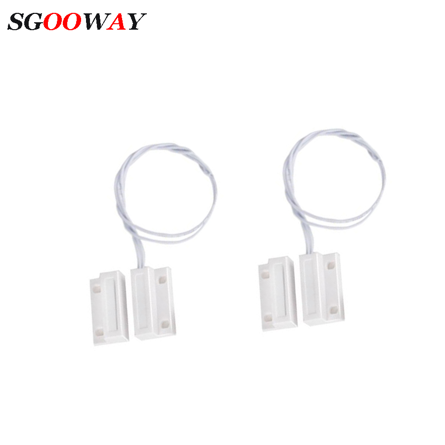 Sgooway  Wired Door Window Sensor Detector Magnetic Switch Normally Closed NC For Our Home Security Alarm System