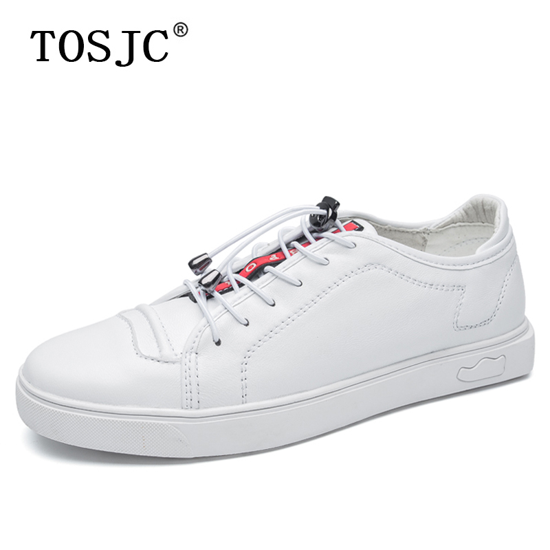 TOSJC New Mens Skateboarding Shoes High Quality Flats Sneakers Casual Lace-up Walking Shoes Fashion For Male Outdoor Sport Shoes