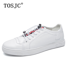 TOSJC New Mens Skateboarding Shoes High Quality Flats Sneakers Casual Lace-up Walking Fashion for Male Outdoor Sport