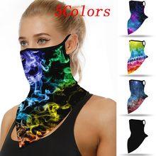 Pasamontañas sin costura Unisex, máscara de protección del cuello, protector solar, orejeras de motocicleta, pañuelo de seda para la cabeza, mascarilla facial