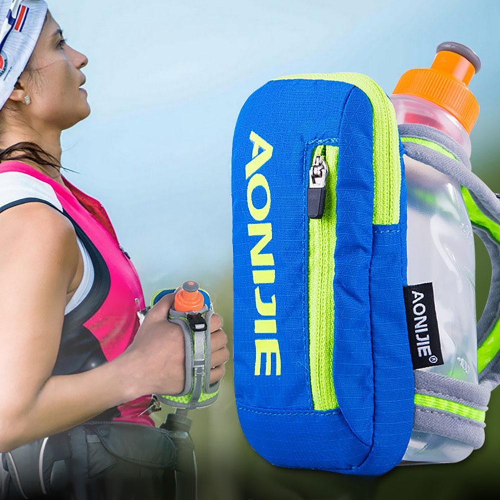 HobbyLane Nylon Marathon Handheld Hydration Pack Outdoor Sport Bag Hiking Cycling Running Kettle Hand Bag for 250ml Water Bottle|Sports Bottles| |  - title=