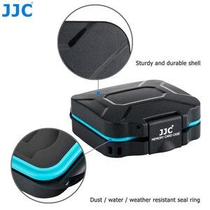 Image 3 - JJC מצלמה זיכרון כרטיס מקרה מחזיק תיבת אחסון ארגונית עבור 4 SD SDHC SDXC 4 מיקרו SD TF כרטיסי עם כרטיס הסרת כלי & שרוך