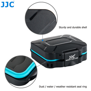 Image 3 - JJC Camera Memory Card Case Holder Storage Box Organizer for 4 SD SDHC SDXC 4 Micro SD TF Cards with Card Removal Tool & Lanyard