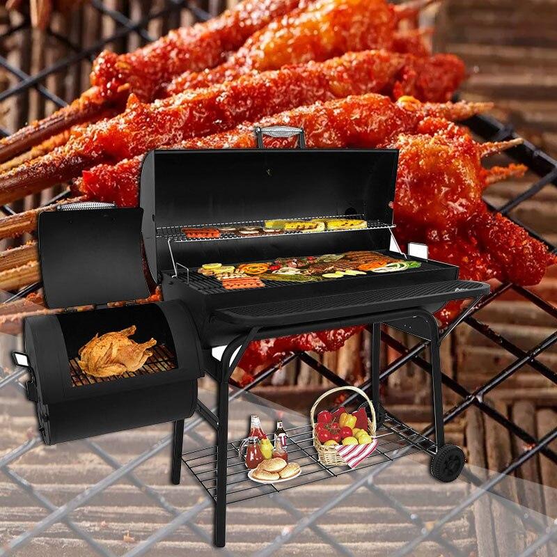 Открытый собираются вместе гриль бытовой Американский барбекю древесный уголь коммерческий гриль патио балкон копченая печь