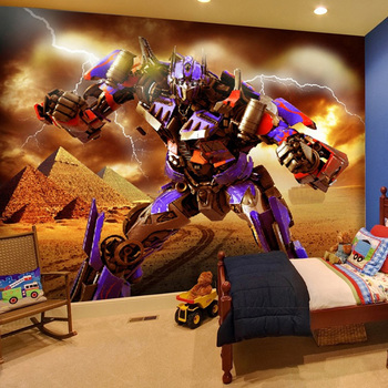 цена на Photo Wallpaper 3D Cartoon Murals Self-Adhesive Waterproof Canvas Wall Painting Children's Bedroom Removable 3D Wall Stickers
