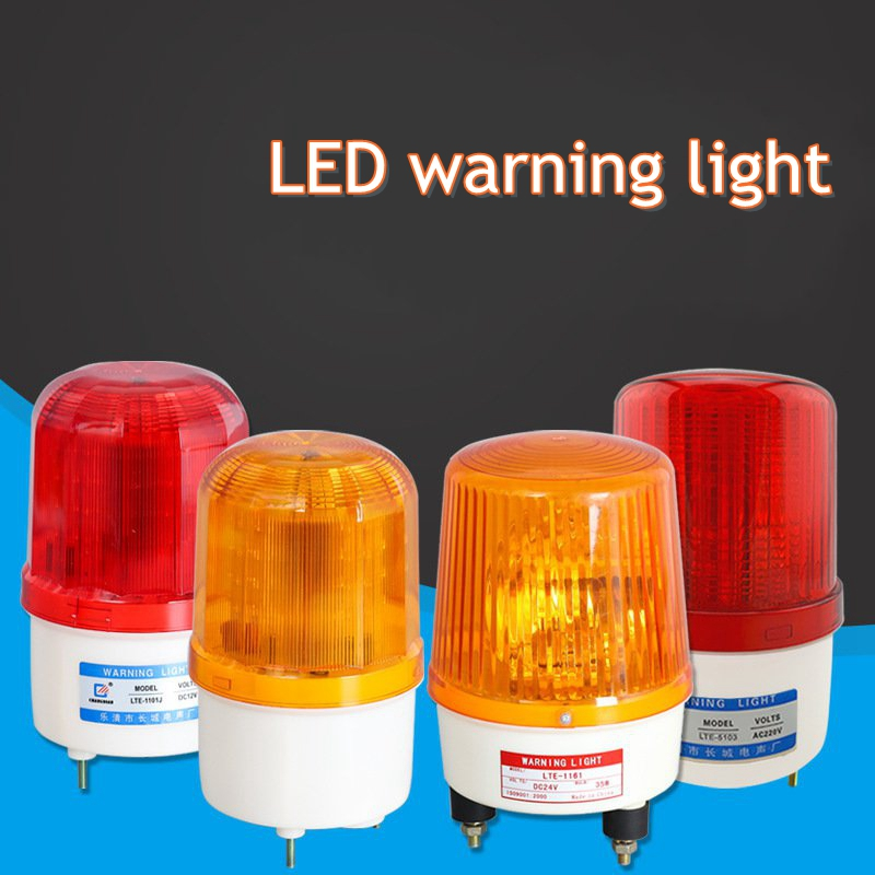 LED Warning Light Night Construction Traffic Signal Energy Saving 5W Rotating Flash Waterproof And Dustproof High Quality Light