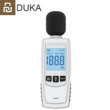 Youpin DUKA dijital ses seviyesi gürültü ölçer ölçüm 30 130db desibel dedektörü ses test cihazı Metro teşhis aracı akıllı sensörü