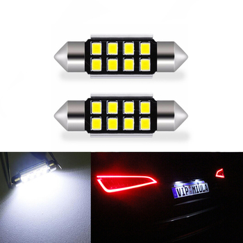 2x LED CANbus C5W Bulbs 2835SMD Interior Lights License Plate Light For Mercedes Benz W208 W209 W203 W169 W210 W211 W212 AMG CLK image