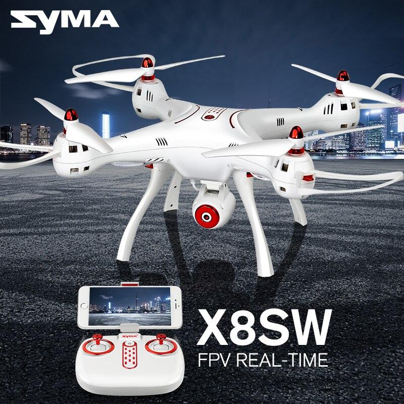 Профессиональный SYMA X8SW 2,4G 4CH 6 осевой Радиоуправляемый Дрон с Wi Fi, Камера FPV в режиме реального времени RC вертолет Квадрокоптер (SYMA X8 апгрейд)