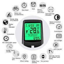 INBIKE Waterproof Bicycle Computer Wireless MTB Bike Cycling Odometer Stopwatch Speedometer Luminous Bike Riding Speedome