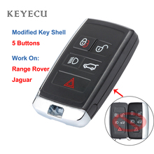 Keyecu משודרג מרחוק רכב מפתח Shell Case שיכון כיסוי לנד רובר ריינג רובר LR2 LR4 ספורט עבור יגואר XE XJ XK XF F סוג