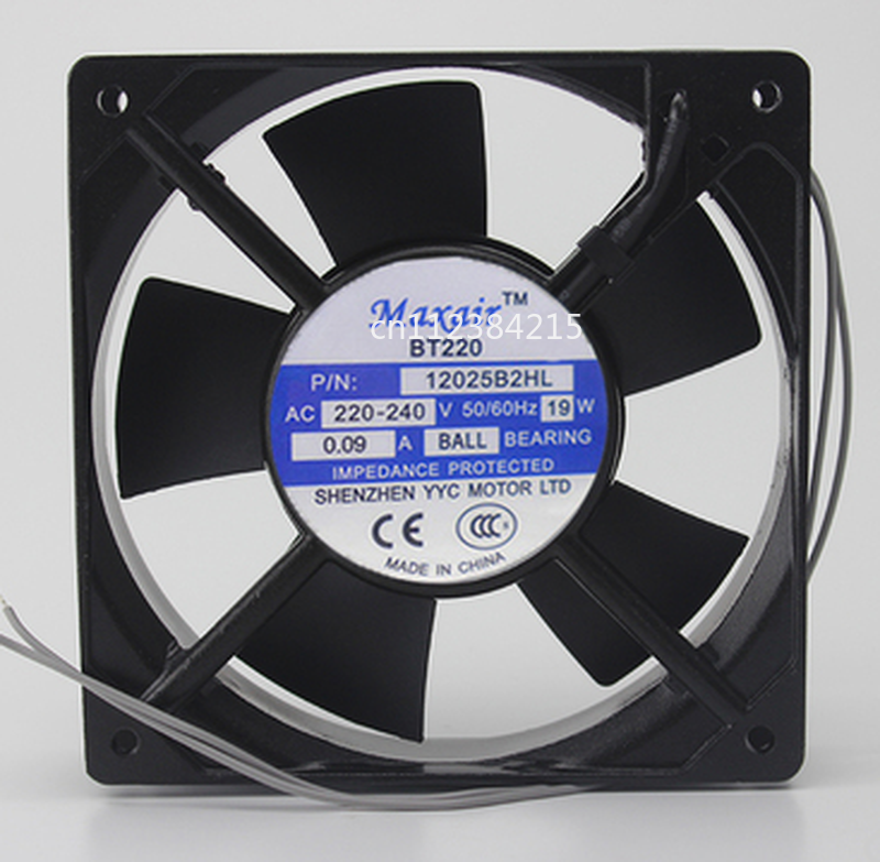 Free Shipping For Maxair BT / 220 12025B2HL 220V 12025 12cm Axial Fan AC Cooling Fan