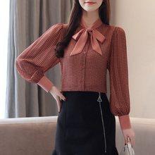 Bohoartist Autumn Womens Sweet Chiffon Blouse Fashion Retro Office Lady Shirts