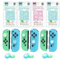 Animal Crossing Kat Poot Beer Blad Bloem Thumb Stick Grip Cap Joystick Cover Voor Nintend Schakelaar Ns Lite Vreugde con Controller Case