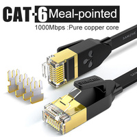 Cabo de remendo liso do ethernet do cabo rj45 lan de samzhe cat6 para o computador portátil do roteador|cable for computer -
