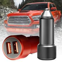 Mini Metal Dual USB QC3.0 Fast Charging Mobile Phone Car Charger Power Adapter Cell Phone Dual USB Car charger