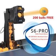 HUIPANG S6 PROตารางเทนนิสหุ่นยนต์/เครื่องEasyประกอบสินค้าสำหรับฝึกMultifunctionalรีไซเคิลลูก