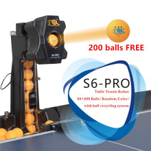 HUIPANG-Robot de tenis de mesa S6-PRO, máquina de fácil ensamblaje, bueno para practicar, multifuncional, recicla pelotas
