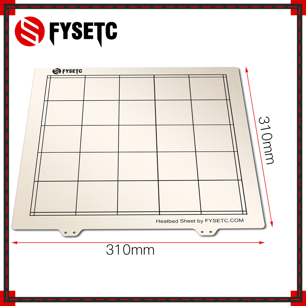 1pc 310   310mm Spring Steel Sheet Heat Bed Platform 3D Printer Printing Build Plate For CR10 CR-10 10S 3D Printer Part