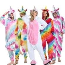 Женские Фланелевые пижамы в виде единорога, милые комплекты пижам в виде животных, женские зимние пижамы в виде единорога, домашняя одежда