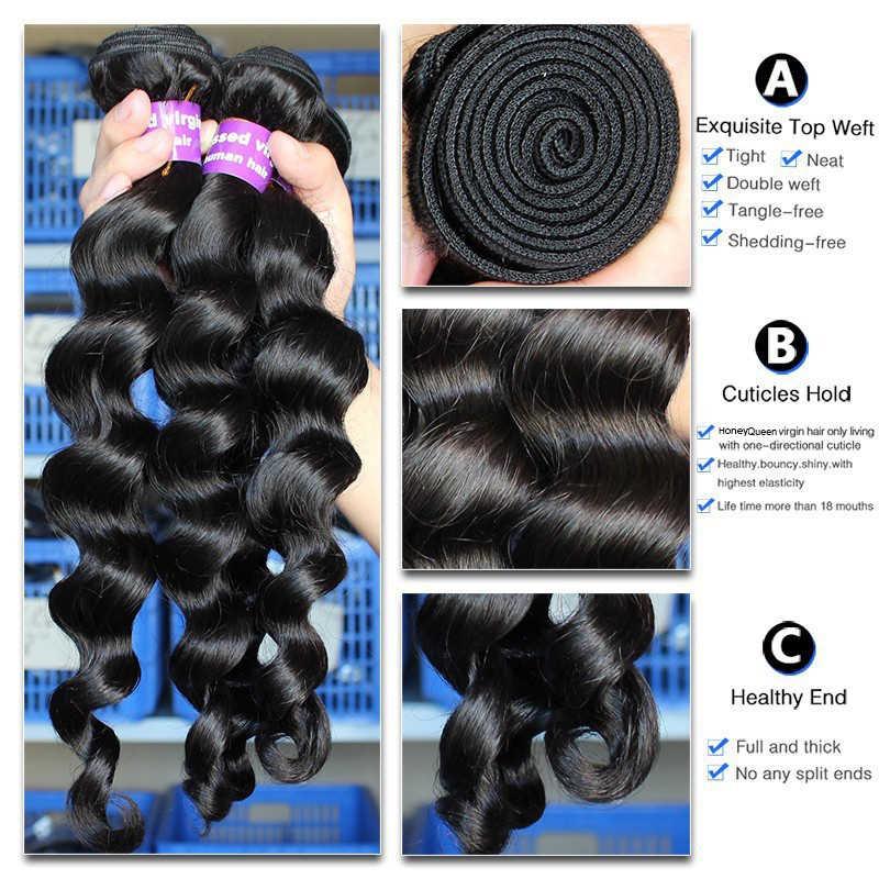 Lose Welle Menschliches Haar Bundles Mit Verschluss Haar Verlängerung Brasilianische Reine Haarwebart Bundles 100% Menschliches Haar Tiefe Immer Schönheit