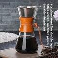 600 ml/800 ml Wärme Beständig Glas Kaffee Topf Kaffee Brewer Tassen Gezählt Kaffee Maker Barista Percolator-in Kaffeepott aus Heim und Garten bei