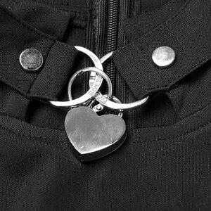 Image 5 - PUNK RAVE frauen Gothic Tie up Seil Öse Metall Dekorative Kleid mit Seil Retro Palace Blase Ärmeln Sonne pendel Kleider
