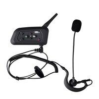 V4 BT Sprech Bluetooth Intercom Headset geeignet für Fußball Schiedsrichter Fahrrad Konferenz 4 menschen gleichzeitig sprechen FM