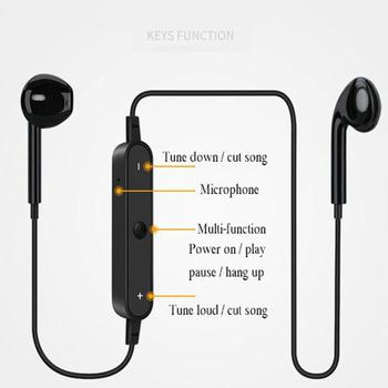 Wireless Bluetooth4.1 Earphones Mini Noise Cancelling Headset Neckband Sport 3D Stereo In-Ear with M