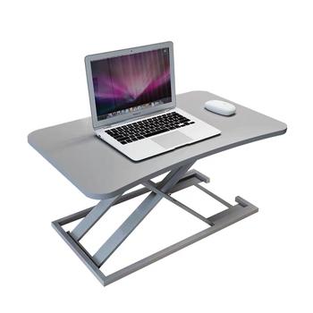 Stand-up komputer stół podnoszący laptop komputer stacjonarny biurko stojące biuro stół warsztatowy pulpit zwiększ półkę tanie i dobre opinie CN (pochodzenie) Biurko komputerowe Meble sklepowe home china Metal Aluminium Laptop biurko Solid color Meble szkolne 73*47*6