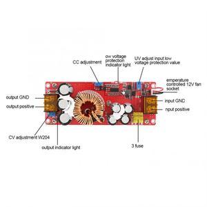 Image 5 - Преобразователь напряжения 10 60 в 12 97 в 1500 Вт 30 А, повышающий преобразователь напряжения, модуль питания CC CV