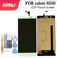 """5.5 """"cubot s550 nsf550hd3044 lcd 디스플레이 + 터치 스크린 cubot s550 vers 용 100% 오리지널 lcd 디지타이저 유리 패널 교체"""