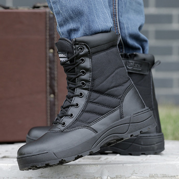 Botas militares t cticas de desierto para hombre Zapatos de seguridad de trabajo botas del