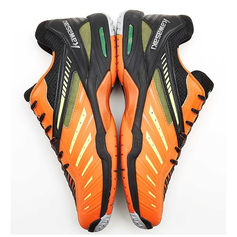 Kawasaki chaussures de Badminton pour hommes sport de cour intérieure professionnel chaussures de sport Orange hommes anti-dérapant K-520 résistant