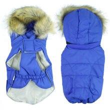 Новая одежда для собак зимняя теплая куртка пуховик щенков с