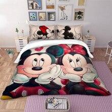 Pillowcases Bedding-Set Duvet-Cover Full-Queen-King-Size Twin Mickey-Minnie Cartoon Disney