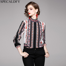 Womens Tops And Blouses 2020 High Quality Designer Runway Shirt Women Boho Vinta