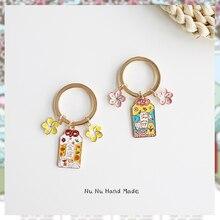 Keyring Keyfob Pendant Couple Gift Lucky-Cat-Keychain Kawaii-Decoration Omamori Japan