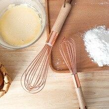 Gadget-Mixer Egg-Beater Manual-Butter-Blender Wooden-Handle Baking Kitchen Stainless-Steel